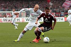 31-03-2012 VOETBAL: FC NURNBERG - FC BAYERN MUNCHEN: NURNBERG<br /> Arjen Robben, Robert Mak<br /> ***NETHERLANDS ONLY***<br /> ©2011-FRH- NPH/Will