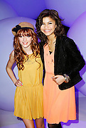 Zendaya and Bella Thorne attend the Disney Kids and Family Upfront 2011-12 at Gotham Hall in New York City on March 16, 2011.