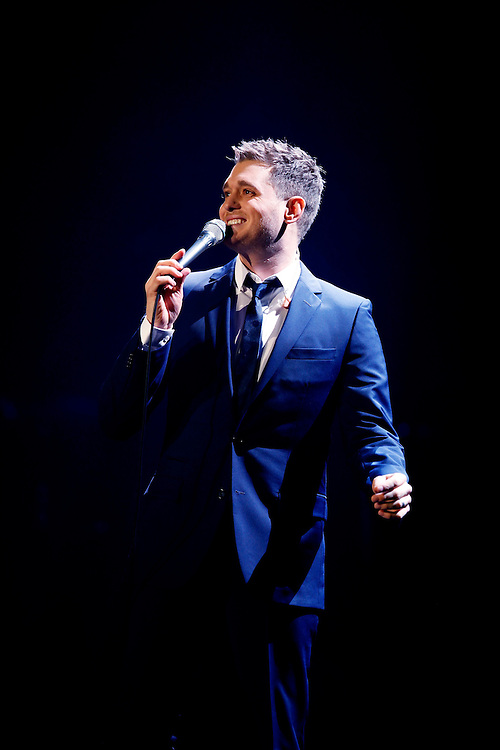 NEW YORK - MARCH 20:  Singer Michael Buble performs in concert at Madison Square Garden on March 20, 2010 in New York City.  (Photo by Joe Kohen/WireImage for New York Post) *** Local Caption *** Michael Buble