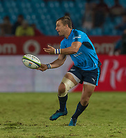 PRETORIA, SOUTH ARICA - MARCH 17: Handré Pollard(c) of the Vodacom Bulls passes the ball during the Super Rugby match between Vodacom Bulls and Sunwolves at Loftus Versfeld on March 17, 2017 in Pretoria, South Africa. (Photo by Anton Geyser/Gallo Images)