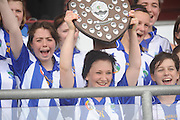 Cailin Fitzgerald  Captain St Cllians who beat Sixmilebridge in the Camoige Division2 final at Pearse Stadium during the Feile na Gael 2011. Photo:Andrew Downes