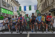 Starting Line before the OVO Energy Women's Tour, London Stage, at Regent Street, London, United Kingdom on 11 June 2017. Photo by Martin Cole.