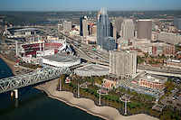 Cincinnati Skyline and Serpentine Wall
