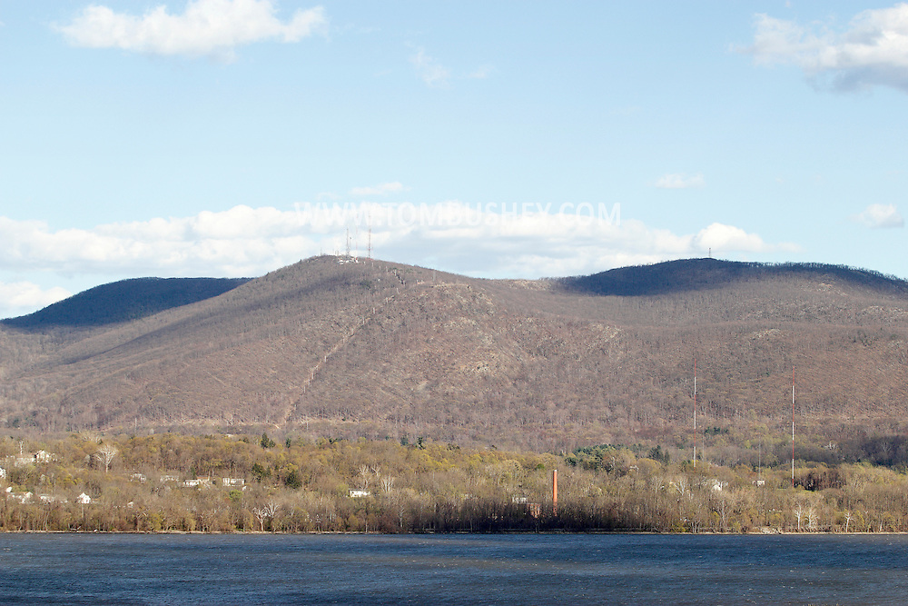 Newburgh, New York - A view of the Hudson River and Mount Beacon from Newburgh on April 4, 2012.
