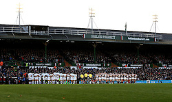 Racing 92 and Leicester Tigers observe a minutes silence for Munster Head Coach Anthony Foley - Mandatory by-line: Robbie Stephenson/JMP - 23/10/2016 - RUGBY - Welford Road Stadium - Leicester, England - Leicester Tigers v Racing 92 - European Champions Cup