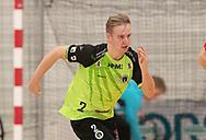 Tobias Jørgensen (Nordsjælland) under kampen i Herrehåndbold Ligaen mellem Nordsjælland Håndbold og Aalborg Håndbold den 27. november 2019 i Helsinge Hallen (Foto: Claus Birch).