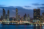 City skyline at Panama City, Panama, Central America