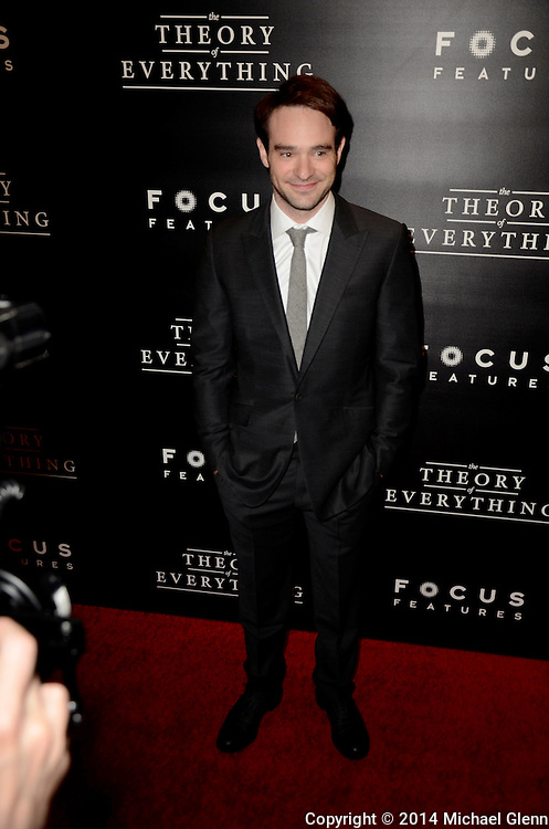 NYC, New York - October 20: Charlie Cox on the red carpet for their new motion picture The Theory of Everything at Museum of Modern Art MOMA on October 20, 2014 in New York, New York. Photo Credit: Michael Glenn / Retna Ltd
