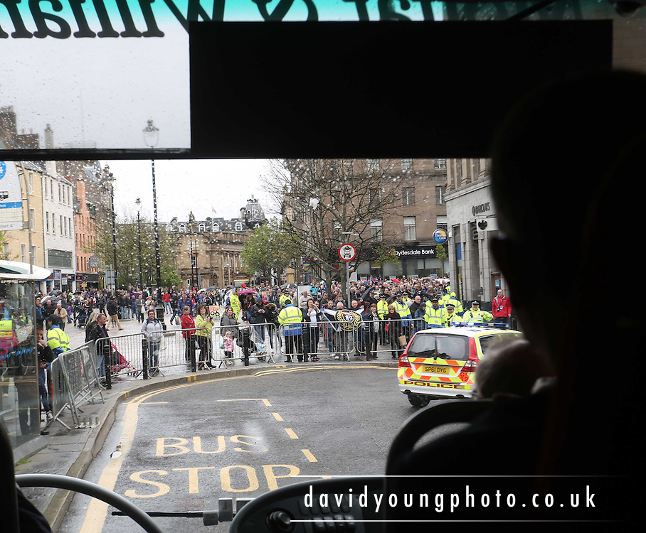 View from Dundee team bus as it approaches the city square - Dundee FC civic reception at Dundee City Chambers<br /> <br />  - &copy; David Young - www.davidyoungphoto.co.uk - email: davidyoungphoto@gmail.com