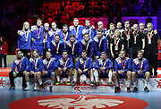 Podium Sweden, Silver medal during the EHF 2018 Men's European Championship, Final Handball match between Spain and Sweden on January 28, 2018 at the Arena in Zagreb, Croatia - Photo Laurent Lairys / ProSportsImages / DPPI