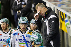 Rob Daum, head coach of EHC Liwest Linz, during ice-hockey match between HDD Tilia Olimpija and EHC Liwest Black Wings Linz at fourth match in Semifinal  of EBEL league, on March 13, 2012 at Hala Tivoli, Ljubljana, Slovenia. (Photo By Matic Klansek Velej / Sportida)