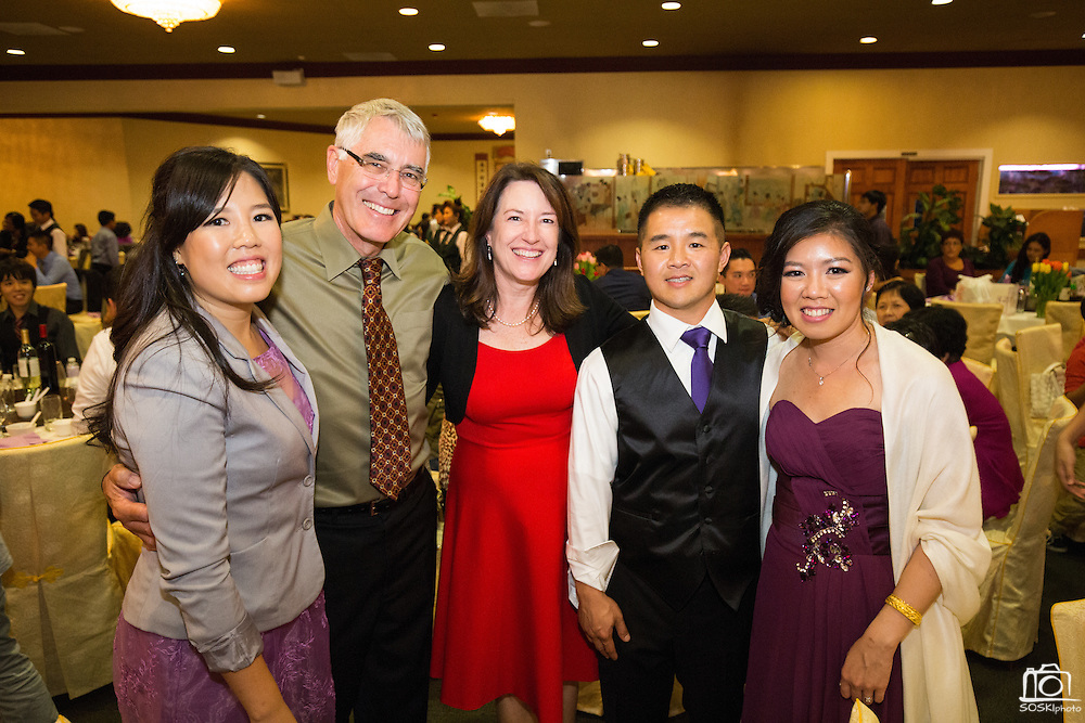 Dave and HemChing celebrate their marriage with family and friends at University of California, Berkeley, in Berkeley, California, on October 17, 2015. (Stan Olszewski/SOSKIphoto)