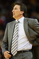 October 29, 2010; Oakland, CA, USA;  Los Angeles Clippers head coach Vinny Del Negro on the sidelines against the Los Angeles Clippers during the first quarter at Oracle Arena.