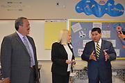 Superintendent Richard Carranza tours the Rice School.