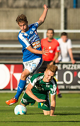 29.07.2016, Gernot Langes Stadion, Wattens, AUT, 2. FBL, WSG Wattens vs Floridsdorfer AC, 2. Runde, im Bild Szene zum Elfmeter: v.l.n.r.: Stefan Krickl (Floridsdorfer AC) und Christian Gebauer (WSG Wattens)// during second Austrian Bundesliga 2nd round match between WSG Wattens and Floridsdorfer AC, at the Gernot Langes Stadion in Wattens, Austria on 2016/07/29. EXPA Pictures © 2016, PhotoCredit: EXPA/ Jakob Gruber