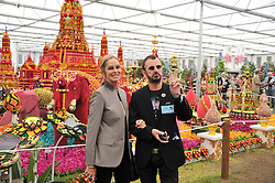 RINGO STARR and BARBARA BACH at the 2011 RHS Chelsea Flower Show VIP & Press Day at the Royal Hospital Chelsea, London, on 23rd May 2011.