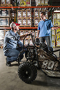 01/14/2016 134545 -- Garland, TX -- © Copyright 2016 Mark C. Greenberg<br /> <br /> CEO Alex Keechle and President and COO Rick Sukkar of Garland, Texas based Monster Moto