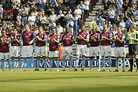 Photo: Aidan Ellis.<br /> Wigan Athletic v West Ham United. The Barclays Premiership. 28/04/2007.<br /> West Ham player s do a minute applause for Alan Ball.
