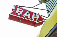 """Bar"" sign on the boardwalk in Ocean City, Maryland, USA."