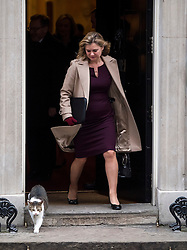 © Licensed to London News Pictures. 23/11/2016. London, UK. Secretary of State for Education JUSTINE GREENING leaves 10 Downing Street in London following a cabinet meeting before Chancellor Philip Hammond delivers his first Autumn statement to parliament. Photo credit: Ben Cawthra/LNP