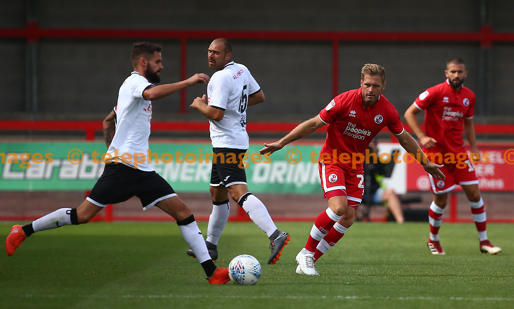 Crawley's Dannie Bulman during the pre season friendly between Crawley Town and KSV Roeselare at The Broadfield Stadium, Crawley , UK. 28 July 2018.