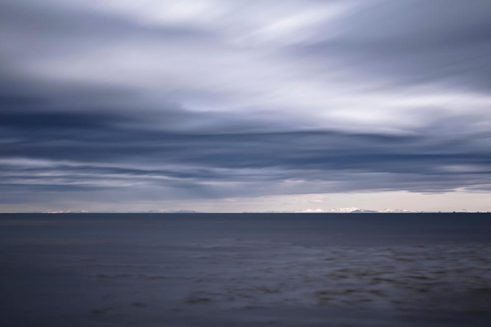 Long exposure shot looking towards Snæfellsnes