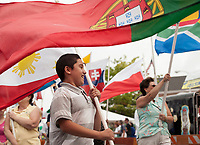 Parade of Nations from past celebrations at Multcultural Day in Laocnia.  Karen Bobotas Photographer