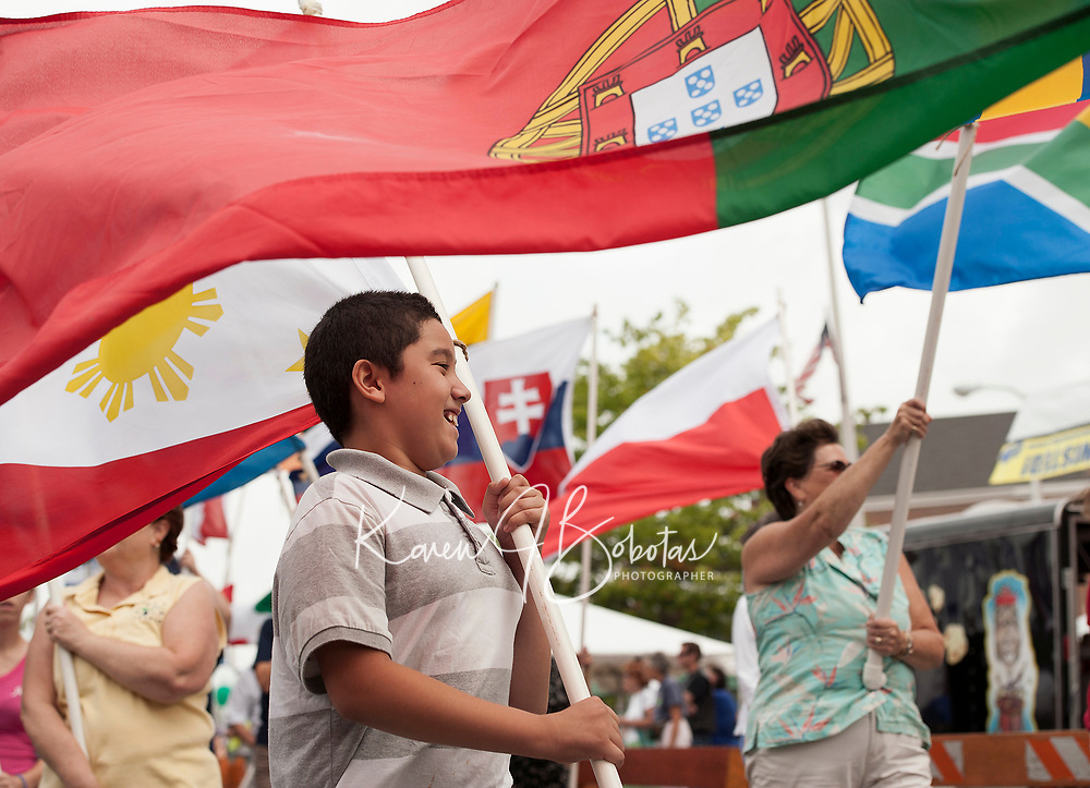 Parade of Nations from past celebrations at Multcultural Day in Laocnia.  Karen Bobotas for the Laconia Daily Sun