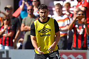 Lewis Cook (16) of AFC Bournemouth warming up ahead of the Premier League match between Bournemouth and Everton at the Vitality Stadium, Bournemouth, England on 15 September 2019.