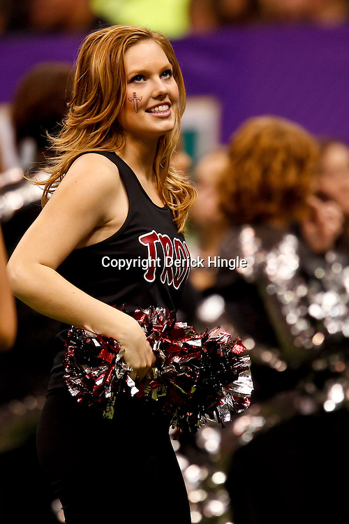December 18, 2010; New Orleans, LA, USA; Troy Trojans cheerleaders during the 2010 New Orleans Bowl against the Ohio Bobcats at the Louisiana Superdome. Troy defeated Ohio 48-21. Mandatory Credit: Derick E. Hingle