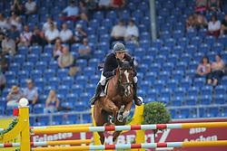 Kreuzer, Andreas (GER)<br /> , Calvilot<br /> Aachen - Europameisterschaften 2015<br /> Springen U25<br /> © www.sportfotos-lafrentz.de/Stefan Lafrentz