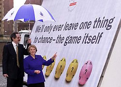 Camelot unveils details of its bid for the next national lottery license, London..L to R  Jerry Cope, post office board member, Dianne Thompson, C/Ex designate of Camelot, February 28, 2000. Photo by Andrew Parsons / i-images..