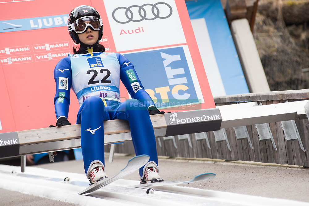 February 8, 2019 - Ljubno, Savinjska, Slovenia - Nozomi Maruyama of Japan on first competition day of the FIS Ski Jumping World Cup Ladies Ljubno on February 8, 2019 in Ljubno, Slovenia. (Credit Image: © Rok Rakun/Pacific Press via ZUMA Wire)