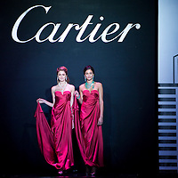 HONG KONG - NOVEMBER 26:  Models showcase Cartier jewelry during the Cartier Flagship Opening Gala Dinner on November 26, 2010 in Hong Kong.  Photo by Victor Fraile / studioEAST