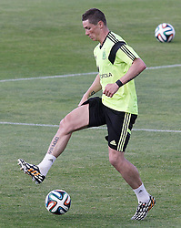 28.05.2014, Madrid, ESP, FIFA WM, Vorbereitung Spanien, Training, im Bild Fernando Torres // during a practice session at the Trainingscamp of Team Spain for Preparation of the FIFA Worldcup Brasil 2014, Madrid, Spain on 2014/05/28. EXPA Pictures © 2014, PhotoCredit: EXPA/ Alterphotos/ Acero<br /> <br /> *****ATTENTION - OUT of ESP, SUI*****