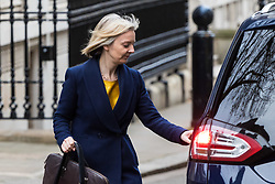 London, November 29 2017. Chief Secretary to the Treasury Elizabeth Truss is seen leaving Downing Street. © Paul Davey