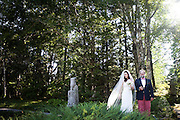 Ariana Rockefeller and her father David Rockefeller Jr. just before walking down the aisle together at Ariana's wedding to Matthew Bucklin on Mount Desert Island, Maine, Saturday, September 4, 2010.  Craig Dilger for The New York Times