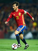 GRANADA, SPAIN - NOVEMBER 12:  David Silva of Spain in action during the FIFA 2018 World Cup Qualifier between Spain and FYR Macedonia at  on November 12, 2016 in Granada, .  (Photo by Aitor Alcalde Colomer/Getty Images)
