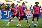 Chelsea midfielder Mason Mount (19) during the Chelsea Training session ahead of the 2019 UEFA Super Cup Final between Liverpool FC and Chelsea FC at BJK Vodafone Park, Istanbul, Turkey on 13 August 2019.