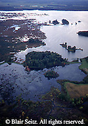 Aerial of Lake Pymatuning in the spring, Pymatuning State Park, Crawford Co., PA