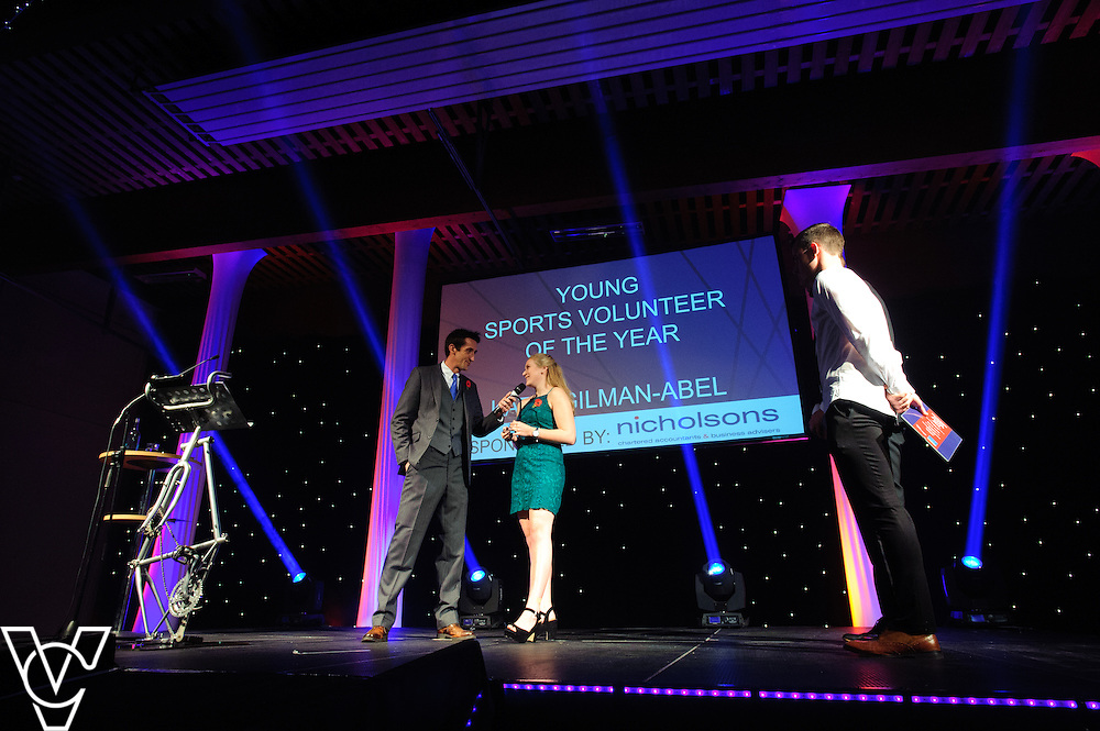 Young Sports Volunteer of the Year sponsored by Nicholsons: <br /> Winner: Katie Gilman-Abel<br /> Runners up: Danny Carter and Lauren O'Meara<br /> <br /> Lincolnshire Sports Awards 2015.<br /> <br /> Picture: Chris Vaughan/Chris Vaughan Photography for Lincolnshire Sport.<br /> Date: November 5, 2015