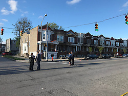 April 28, 2019 - MD, USA - Seven people were shot, leaving at least one dead, in West Baltimore Sunday evening, April 28, 2019, a Baltimore police spokeswoman confirmed. This is the crime scene at Edmondson and Whitmore. (Credit Image: © TNS via ZUMA Wire)