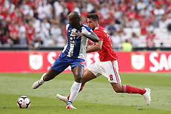 October 7, 2018 - Lisbon, Portugal - Danilo Pereira of Porto (L) vies for the ball with Gabriel of Benfica (R)  during the Portuguese League football match between SL Benfica and FC Porto at Luz Stadium in Lisbon on October 7, 2018. (Credit Image: © Carlos Palma/NurPhoto/ZUMA Press)