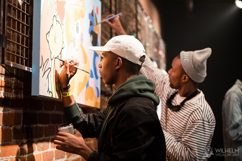 Artists paint at Red Bull Sound Select Presents Denver at the Summit Music Hall in Denver, CO, USA, on 17 February, 2017.