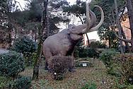 """Roma 30 Dicembre 2014<br /> """"Dinosauri in Carne e Ossa"""", mostra di dinosauri e altri animali preistorici estinti, a grandezza naturale, allestita dall' Associazione paleontologica ambientale, all'Università La Sapienza di Roma. La mostra sara aperta fino al 31 Maggio 2015. La scultura di un Mammuthus primigenius.<br /> Rome December 30, 2014<br /> """"Dinosaurs in Flesh and Bones"""", an exhibition of dinosaurs and other prehistoric animals extinct, to life-sized, prepared by Association paleontological environmental, a La Sapienza University of Rome. The exhibition will be open until May 31, 2015. The sculpture of Mammuthus primigenius."""