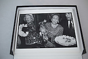 Iris Love and Brooke Astor with Just Desserts and Dolly Astor at a Dachund party. Barbetta. Manhattan. 12 February 1990
