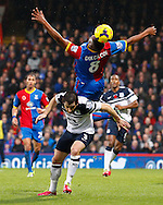 Picture by David Horn/Focus Images Ltd +44 7545 970036<br /> 09/11/2013<br /> Kagisho Dikgacoi of Crystal Palace and Leighton Baines of Everton during the Barclays Premier League match at Selhurst Park, London.
