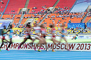 Women's 1500 meters qualification during the 14th IAAF World Athletics Championships at the Luzhniki stadium in Moscow on August 11, 2013.<br /> <br /> Russian Federation, Moscow, August 11, 2013<br /> <br /> Picture also available in RAW (NEF) or TIFF format on special request.<br /> <br /> For editorial use only. Any commercial or promotional use requires permission.<br /> <br /> Mandatory credit:<br /> Photo by &copy; Adam Nurkiewicz / Mediasport
