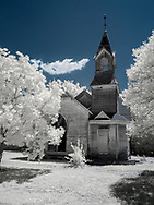 150 year old church, shot in infrared