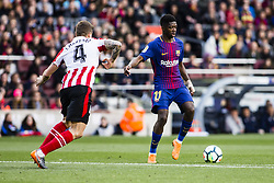 March 18, 2018 - Barcelona, Spain - BARCELONA, SPAIN - MARCH 18: 11 Ousmane Dembele from France of FC Barcelona during La Liga match between FC Barcelona v Atletic de Bilbao at Camp Nou Stadium in Barcelona on 18 of March, 2018. (Credit Image: © Xavier Bonilla/NurPhoto via ZUMA Press)